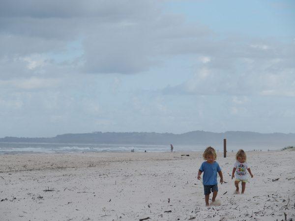 la plage de Brunswick Heads