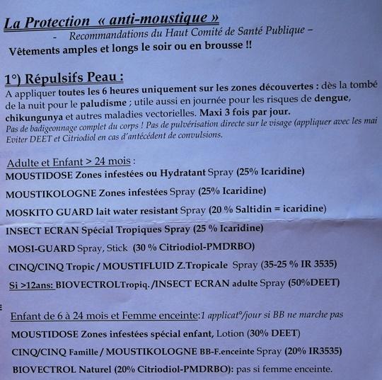 recommandations repulsifs anti moustiques