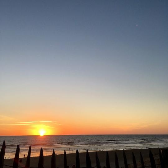 coucher de soleil le porge ocean